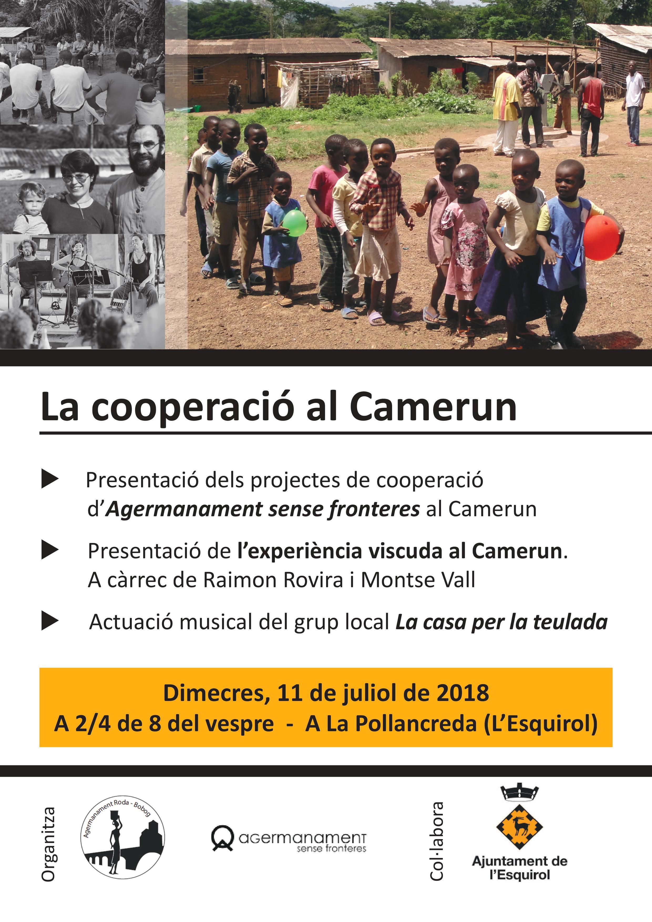 cartell cooperació al Camerun