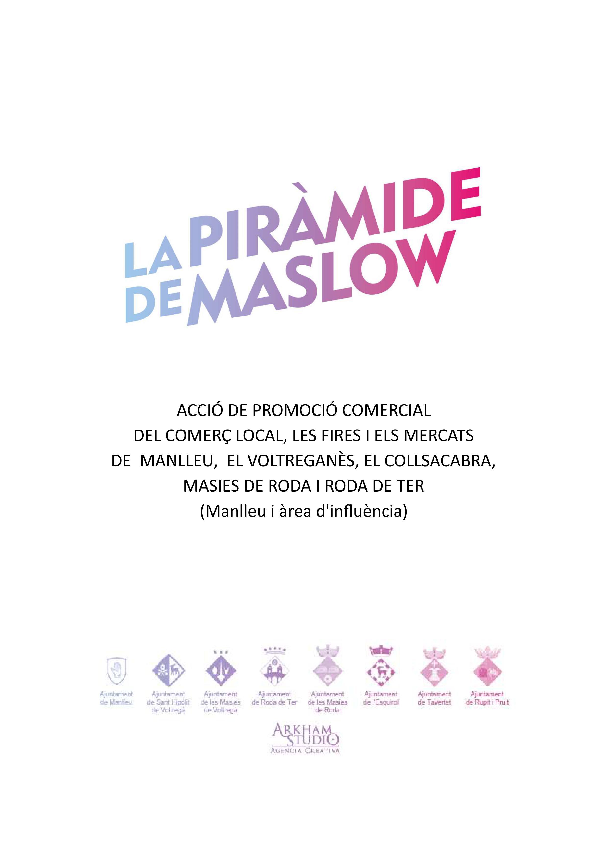 Caràtula projecte la Piràmide de Maslow